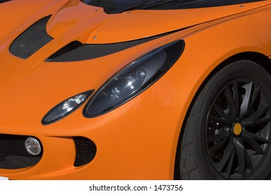 Orange lotus esprit waiting to be driven