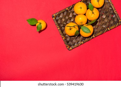 Orange for Lunar Chinese new year. Tet Holiday Concept.