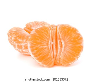 Orange mandarin or tangerine fruit isolated on white background
