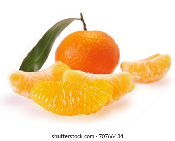 orange mandarine  isolated on white background.