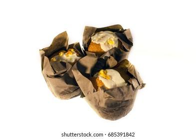 Orange muffins in paper