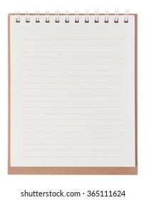 orange notebook on a white background
