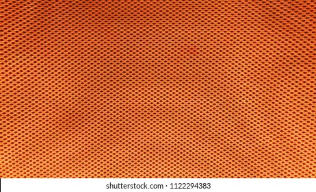 Orange nylon fabric pattern texture background.