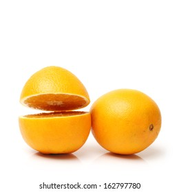 Orange on the white background