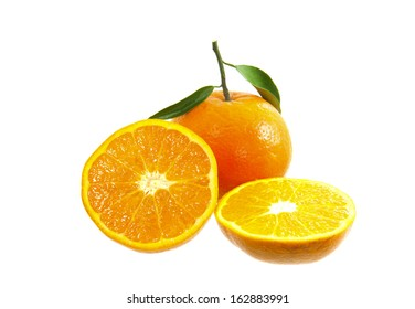 Orange on a white background