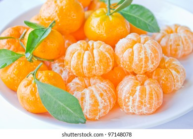 A lot of orange on a white background.