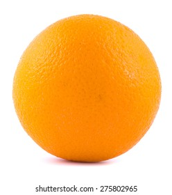 Orange on a white background with a shadow from below