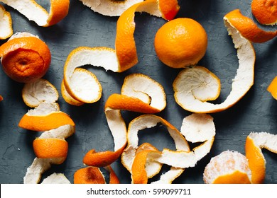 orange peel mandarin background. tangerines top view