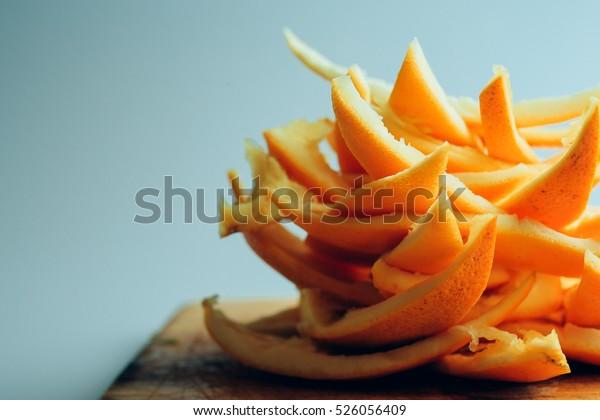 Orange peels ecology healthy food fruit