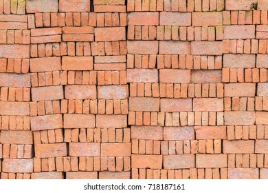 Orange pile brick  for construction