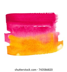 Orange and pink abstract watercolor background texture