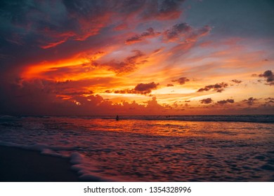 Orange and Pink Amazing Sunset in Cuba