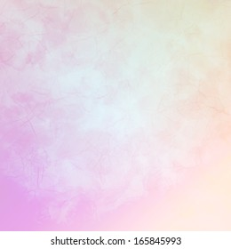 Orange and pink background with cracks and a blue tint