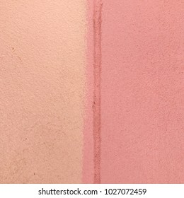 Orange and pink color cement wall for background and love valentines concept