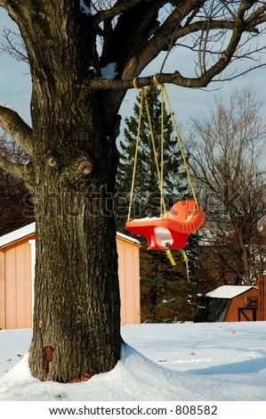 Orange Plastic Baby Swing Hangs Tree Stock Photo (Edit Now) 808582 ...