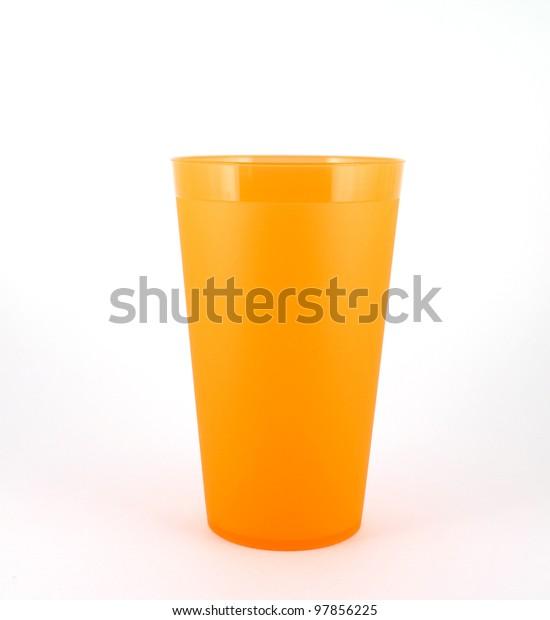 orange-plastic-cup-over-white-600w-97856