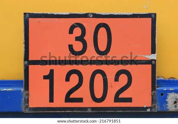 Orange Plate Hazard Identification Number Sometimes Stock