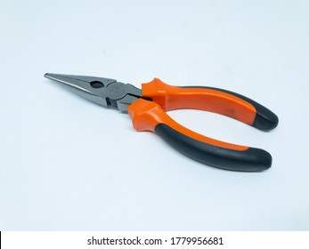 An orange plyers isolated on a white background