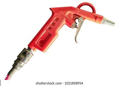 orange pneumatic gun