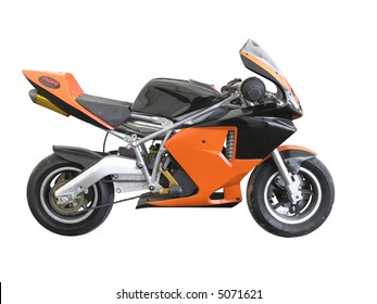 An Orange Pocket Bike