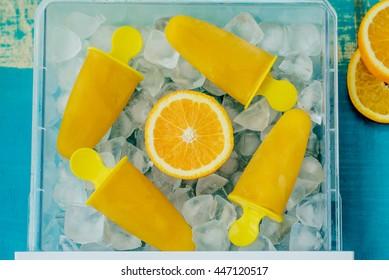 Orange popcicles