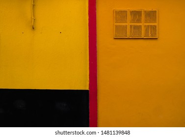 Orange, red and dark yellow tones painted wall, an abstract artsy design element and concept.