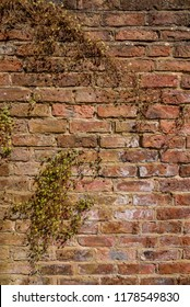 Orange red old brick wall texture weathered