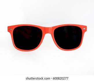 Orange / Red Sunglasses white backgound