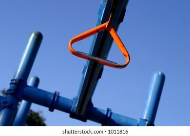 Orange ring in jungle gym