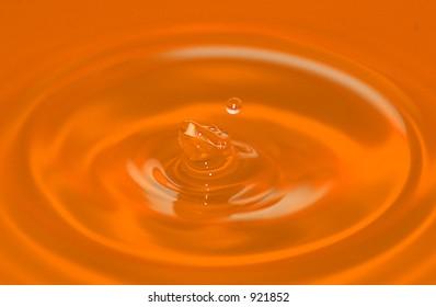 orange ripples
