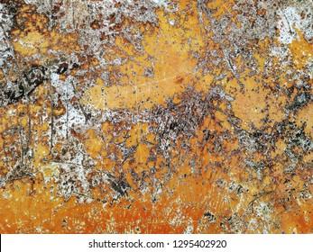 Orange Rock Texture Surface