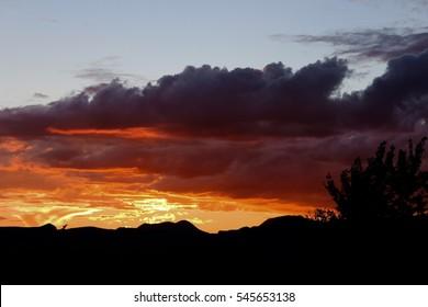Orange Rose Pink Red Sunset in Big Bend National Park Desert Marfa West Texas
