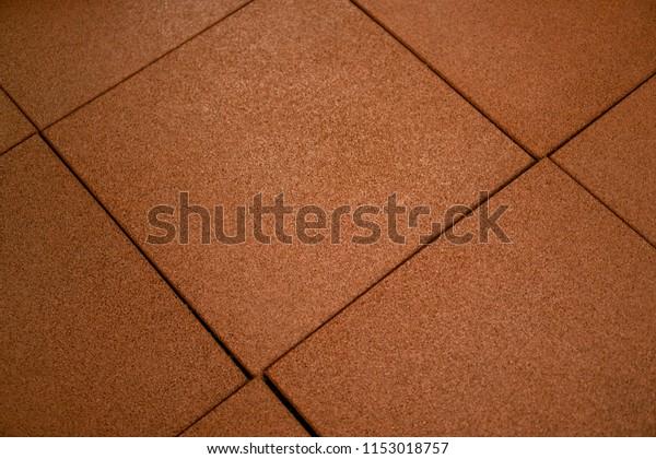 Orange Rubber Floor Mat Tiles Inside Stock Photo Edit Now 1153018757