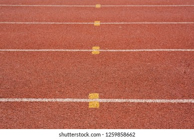 Orange Running Track background use for success concept or target goal concept.