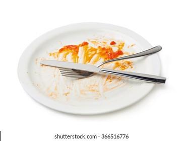 Orange sauce food leftovers isolated