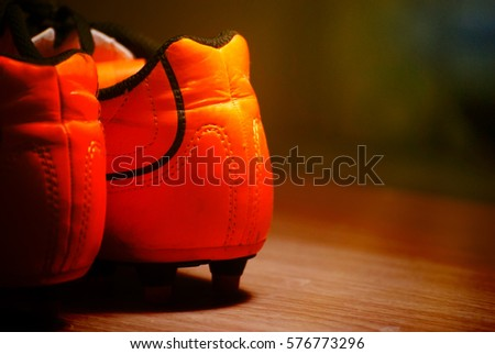 NONTHABURI NOVEMBER 30: PUMA Racing shoes on display at Thailand..