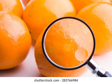 Orange skin under the microscope