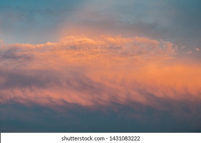 Orange Sky and cloud formation