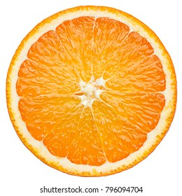 orange slice, clipping path, isolated on white background full depth of field - Shutterstock ID 796094704