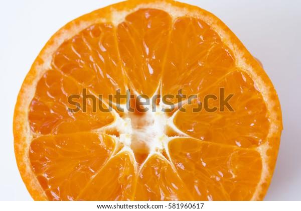 Orange Slice (orange, isolated, fruit)