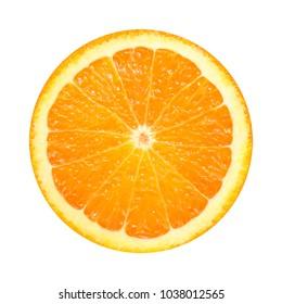 Orange slice isolated on white background. fresh fruit