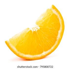 orange slice isolated on the white background.