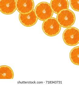 orange slices background, orange slices  isolated