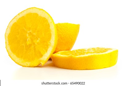 orange slices isolated on a white background