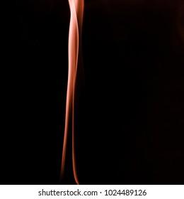 Orange smoke in a dark room. Texture, background