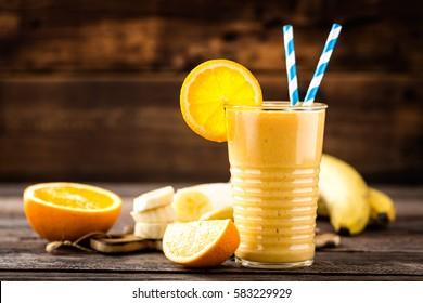 orange smoothie, healthy eating, superfood