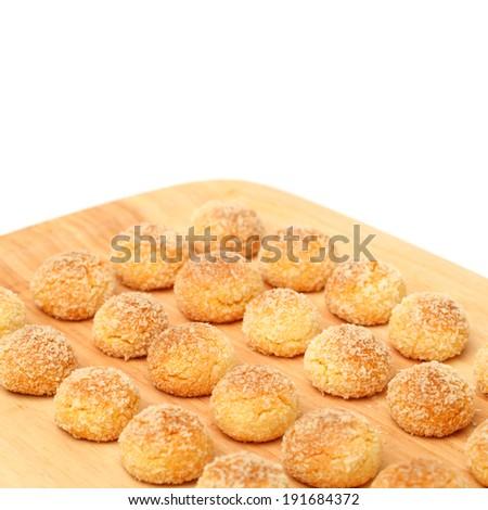 Orange Snowball Cookies On White Background Stock Photo Edit Now