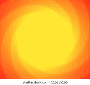 orange spiral from yellow center