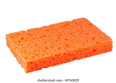 orange sponge macro