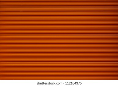Orange storage unit door background